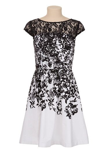 Floral Lace Illusion Dress available at #Maurices