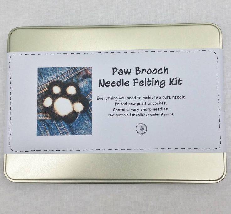 Paw Brooch Needle Felting Kit