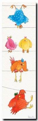 MITARANGA Quelques poules sur un fil