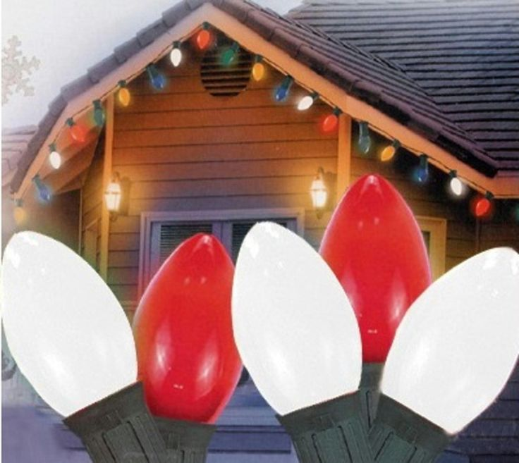 Set of 25 Opaque Red and White Candy Cane C9 Christmas Lights - Green Wire