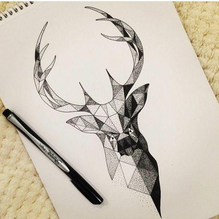 Les 25 meilleures id es de la cat gorie dessin cerf sur pinterest - Comment dessiner un cerf ...