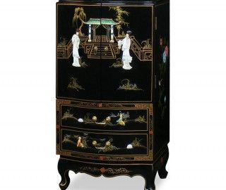 15 Amusing Black Lacquer Armoire Pic Ideas