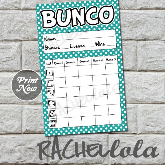 15 best Bunco images on Pinterest Bunco ideas, Bunco themes and - bunco score sheets template