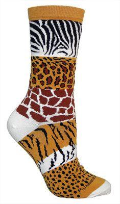 Safari print socks