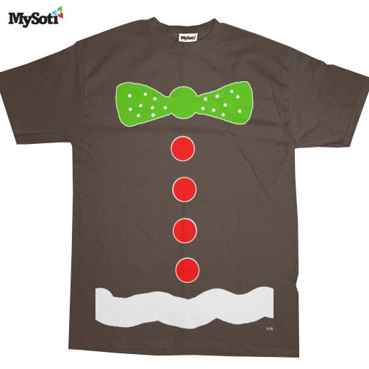 CandyLand piece T-shirt (long sleeve?), Blue to Shirt with with outline bow and buttons, blue jeans