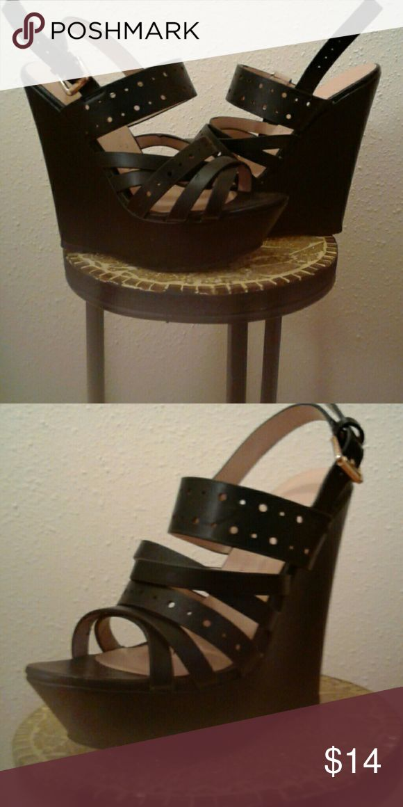 OBO Strappy Wedges Black & strappy Shoes Wedges