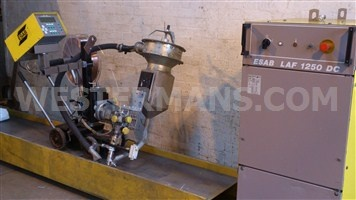 ESAB A6/A2 Sub Arc seam Welding Tractor twin head or single and LAF 1250 Power Source with PEH Controls