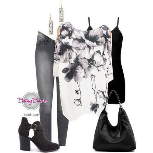 6d4a8485d6 set Small (pre-order) Set 953  Ivory Charcoal Floral Slit Sleeve Top (incl.  top