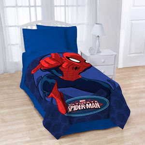 "perfect for big boy beds - Spiderman 62"" x 90"" Plush Microfiber Blanket"