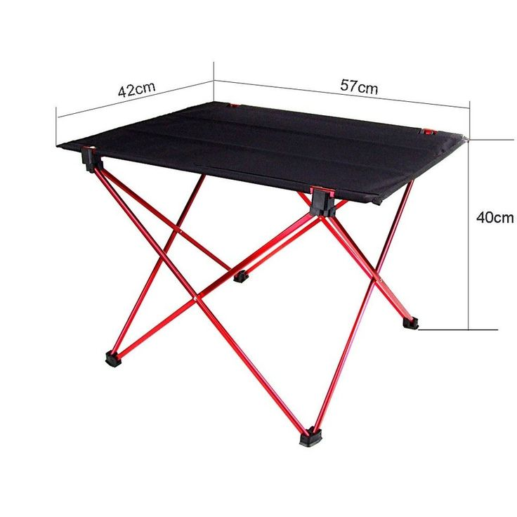 Outdoor Equipment - Aluminium Alloy Ultra-light Durable Fold Able Table For Camping Picnic