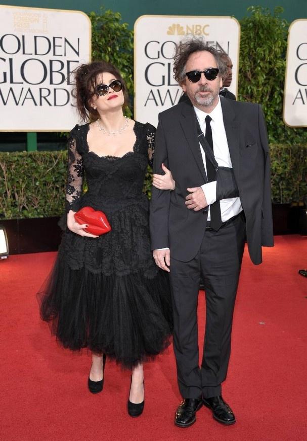 Helena Bonham Carter & Tim Burton at the 2013 Golden Globes