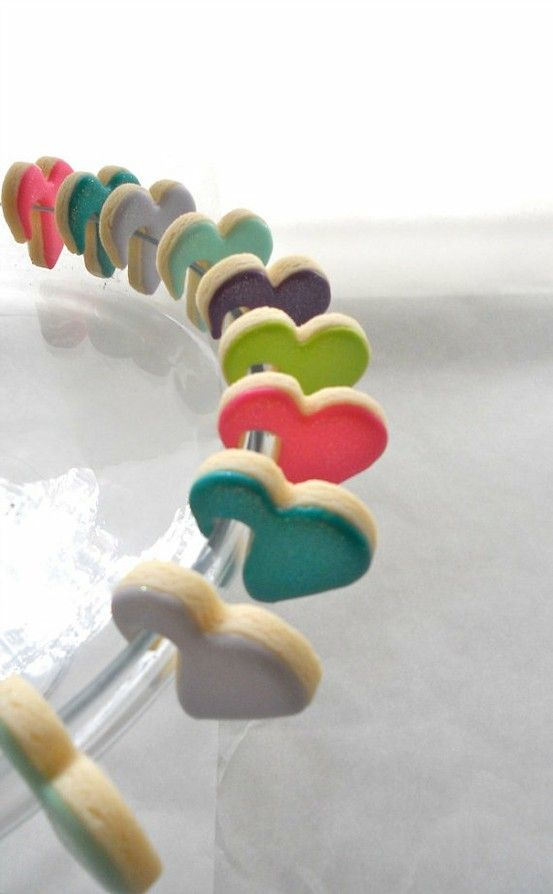 How our over the edge of the glass cookie cutters look when they are decorated.