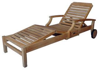 Ravello Chaise Lounger with Arms mediterranean outdoor chaise lounges
