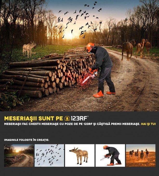 """""""Și animalele au nevoie de o casă! Opriți distrugerea pădurilor! """" by Fășie Geordano Șerban. Meseriasii sunt pe 123RF"""