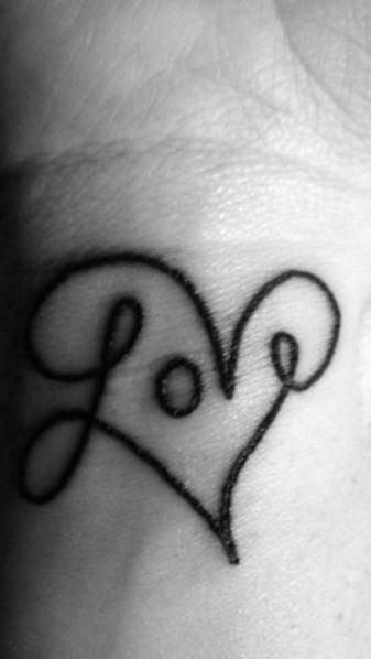 Tattoo Ideas, Wrist Tattoo, Get A Tattoo, Tattooideas, Heart Tattoo, Love Tattoos,