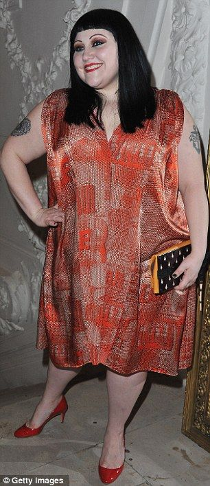 Beth Ditto attends the Jean-Paul Gaultier Fashion show (Jan 2012)  I love her confidence and originality.-mbr