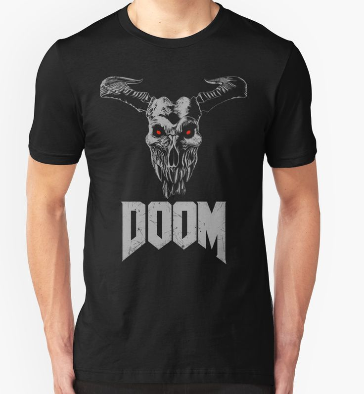 """Doom - Icon of Sin V2"" T-Shirts & Hoodies by Remus Brailoiu 