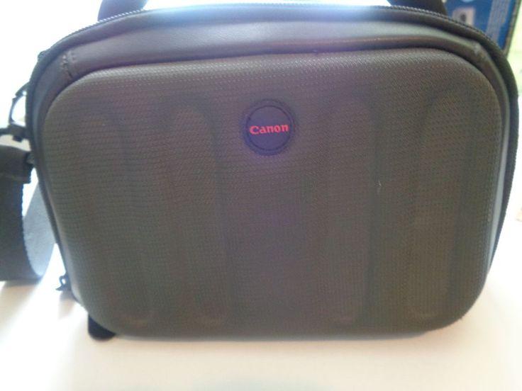 Canon Camera Bag Camera Case Dark Khaki and Black Several Pockets Shoulder Strap #Canon