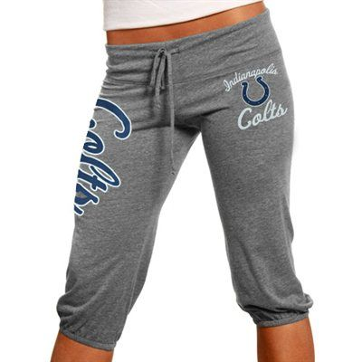 Indianapolis Colts Ladies Touchdown Tri-Blend Crop Pants - Steel