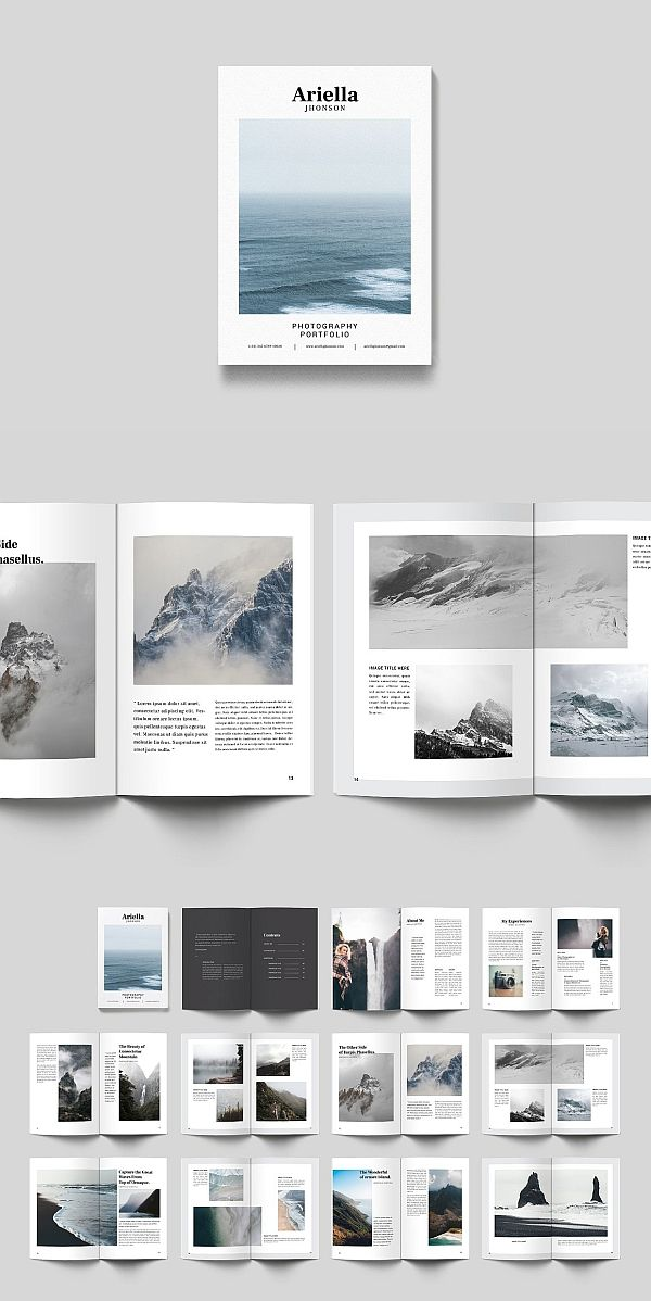 portfolio minimal layouts pinterest brochure template