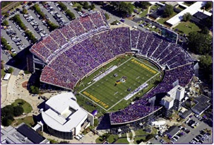 Dowdy-Ficklen Stadium- Home of East Carolina University's Pirate Football