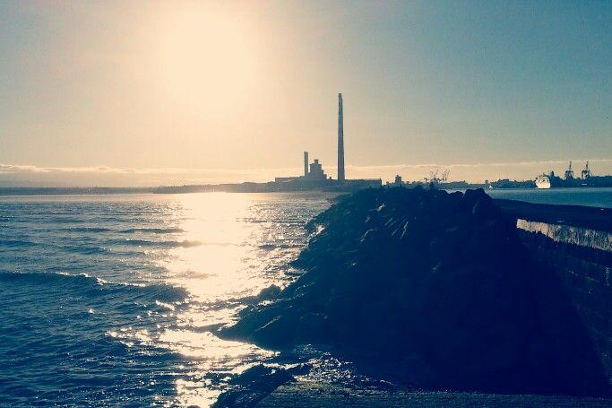 Dublin bay. Near the lighthouse.