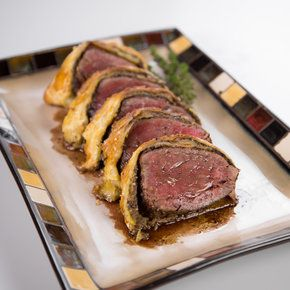 Beef Wellington from The Chew--the easy, less expensive version. Must try some weekend.