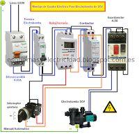 Esquemas eléctricos: Montaje de cuadro electrico para electrobomba de 1...