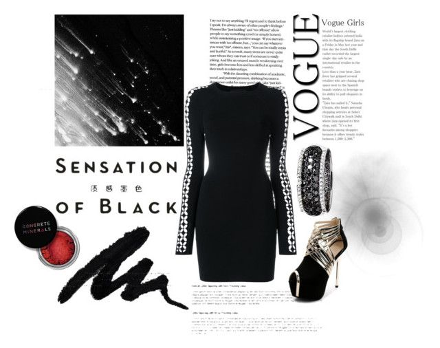 """""""Black Everything"""" by mikaelajane17 on Polyvore featuring Alexander Wang, Effy Jewelry, Vision, Concrete Minerals and allblackoutfit"""