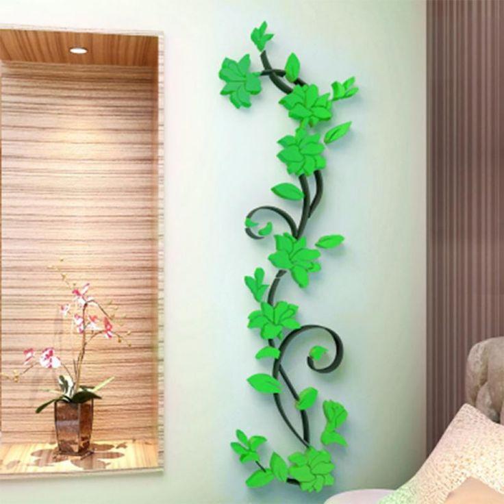 3d diy الفن الفينيل ملصقات الحائط القابل زهرية زهرة شجرة صائق جدارية ديكور المنزل لل نوم ديكور المنزل