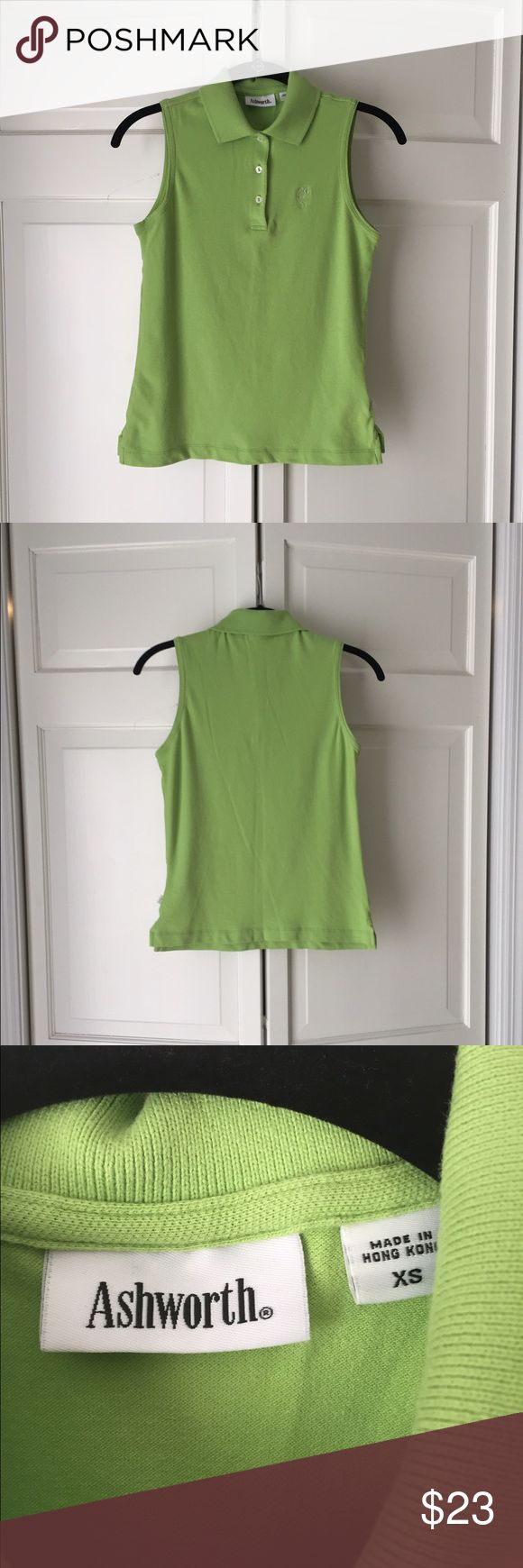 Ashworth Women's Golf Shirt Worn once.  Like new Ashworth golf shirt.  Nice stretch material. Ashworth Tops Button Down Shirts