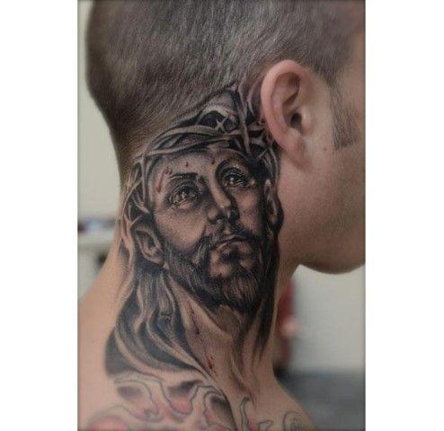 Jesus tattoo for men faith tattoos pinterest tattoos for Mens tattoos pinterest