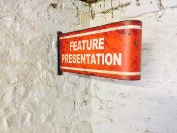 Cinema Feature Presentation Sign