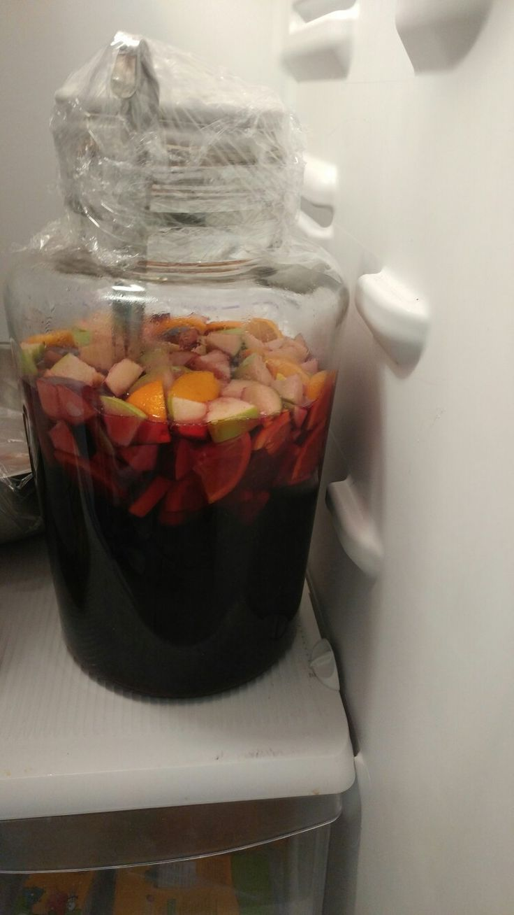 Sangria!! Super delish super easy 1 gallon carlo Rossi sangria 1/3 cup sugar Fruit of choice .. I used oranges and apples 1 20oz sprite 2 cups dark rum .. This was a sure hit!! Eveyone thought it was top secret recipe!!