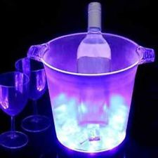 Colin Cowie muliti  Color-Changing LED Ice Bucket  /  Wine Coolers w/ ice Scoop