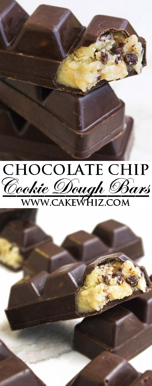This quick and easy, no bake CHOCOLATE CHIP COOKIE DOUGH BARS recipe is secretly healthy. These raw eggless cookie dough bars are fun to make with kids and great as a homemade gift during Christmas holidays. {Ad} From cakewhiz.com