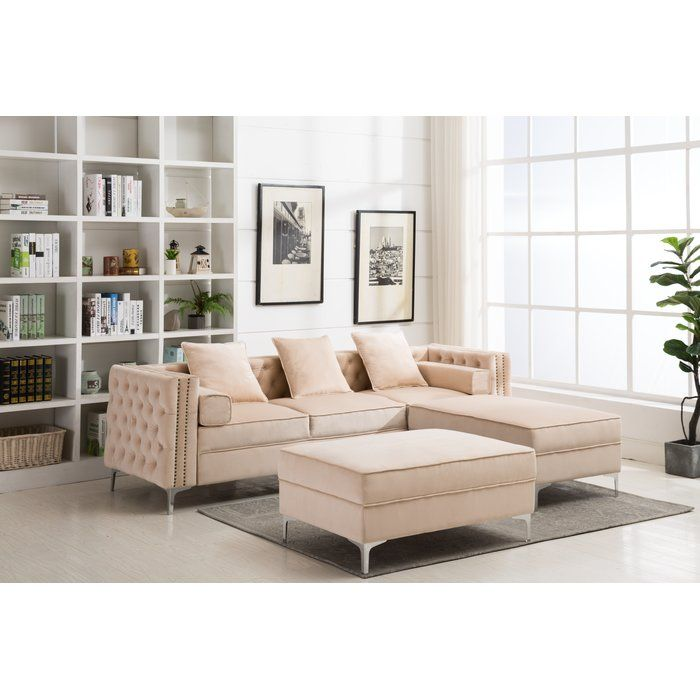 Amazing House Of Hampton Zaida Reversible Sectional With Ottoman Spiritservingveterans Wood Chair Design Ideas Spiritservingveteransorg