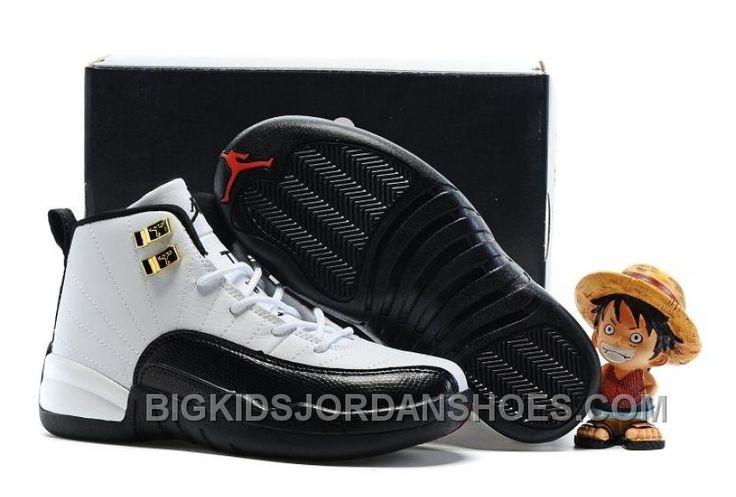 """http://www.bigkidsjordanshoes.com/2017-kids-air-jordan-12-taxi-basketball-shoes-online.html 2017 KIDS AIR JORDAN 12 """"TAXI"""" BASKETBALL SHOES DISCOUNT Only $85.00 , Free Shipping!"""