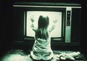 Carol Anne, front of the tv, from Poltergeist (1982)