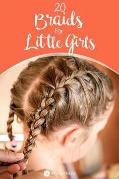 20 Quick And Easy Braids For Kids (Tutorial Included) #hairstyles #braid #hairstyle #girls #kids