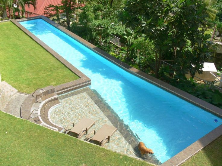 Backyard lap pool dimensions pool pinterest backyard for Pool design dimensions