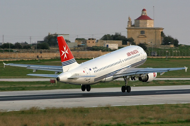 9H-AEL Taking off from Malta