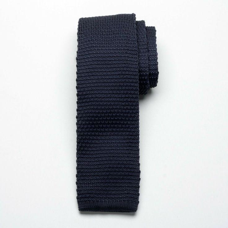 Krawat tkany Willsoor - grafitowy #krawat #moda #willsoor