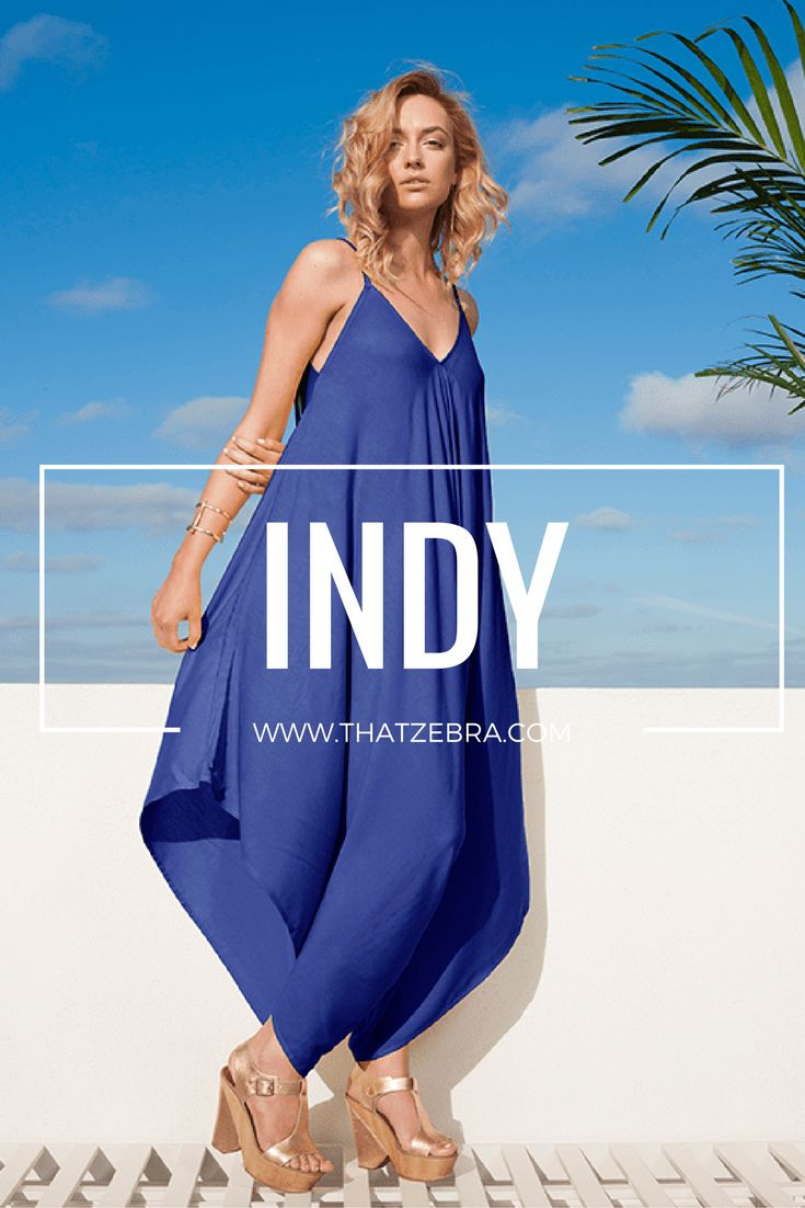 Intelligence, nostalgic, calm…   Indigo blue is a perfect colour for days when you don't want to wear black. It's vibrant, yet calm. Complimentary to all body shapes and skin colours. We love wearing it with gold, silver or nude accessories. But to truly make a statement pair it with yellow or orange…you won't get unnoticed.  $97 SHOP at http://www.thatzebra.com/product/indy/   #jumpsuit #haremjumpsuit #fashion