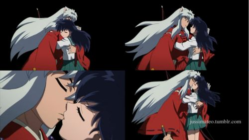 Love this scene! Kagome & Inuyasha   My Favorite Anime ...  Love this scene...
