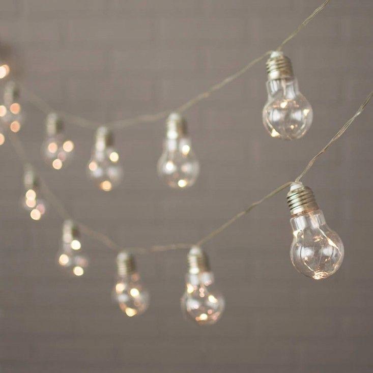 Light Bulb Fairy Lights.                                                                                                                                                                                 More