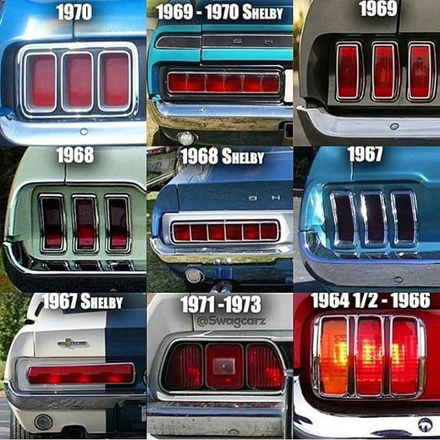 Mustang taillights.