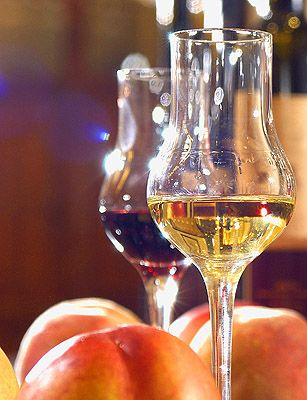 Pálinka. Hungarian fruit brandy.