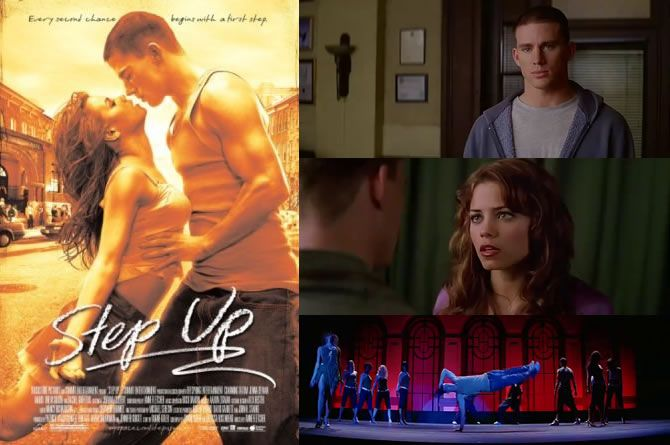 Step Up (2006) Channing Tatum is the bad boy doing community service at a school for performing arts where he ends up falling for Nora (Jenna Dewan Tatum), a classicaly trained dancer