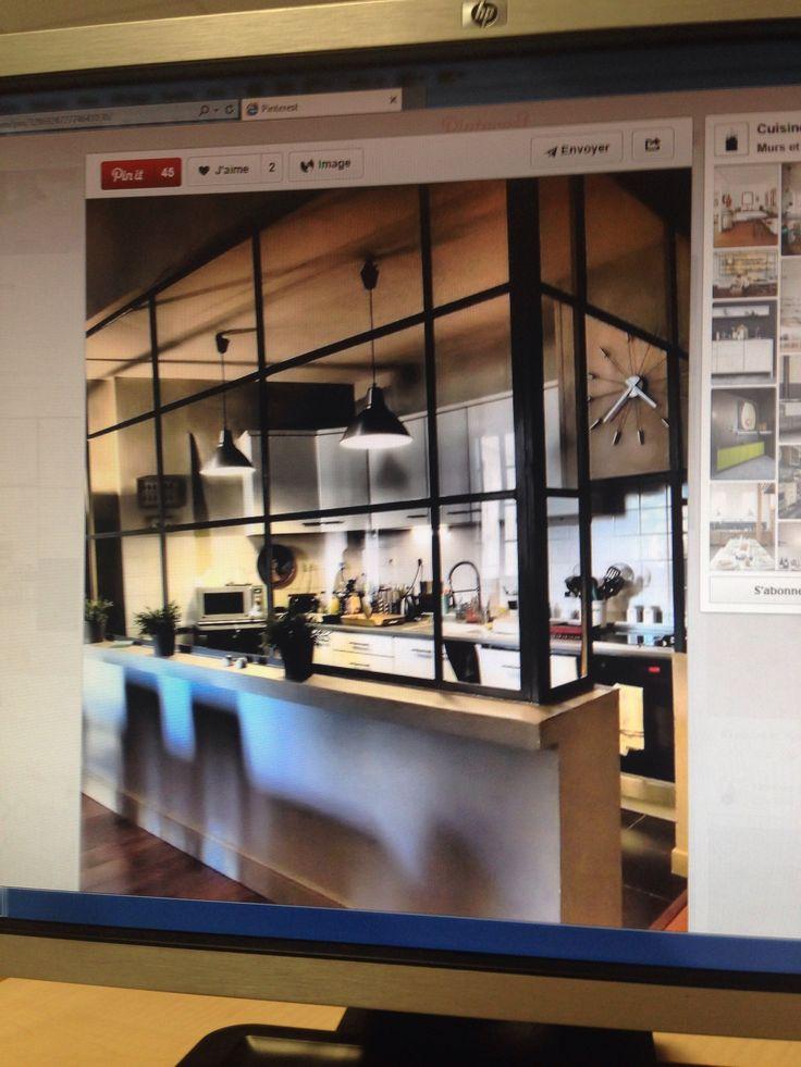 7 best hotte verre style atelier images on pinterest for Piani di casa cottage con porte cochere